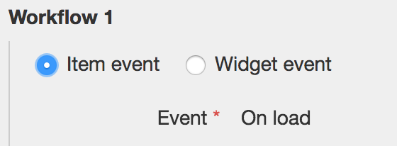 Selecting a Widget event